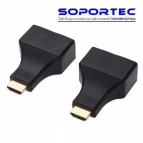 Adaptador extensor HDMI por cable UTP soporta 30 metros