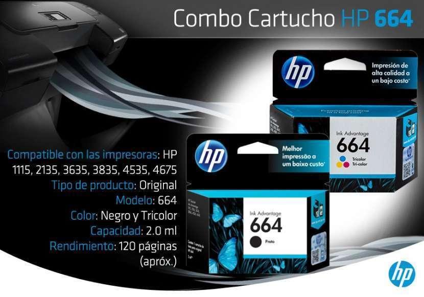 Cartucho para impresora HP 664 negro