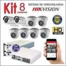 Kit 8 cam hd grabación