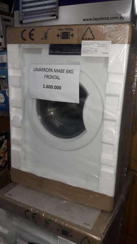 Lavarropa automática Mabe de 6 kilos carga frontal - 0