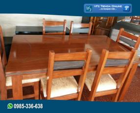 Mesa de comedor con 6 u 8 sillas tapizadas
