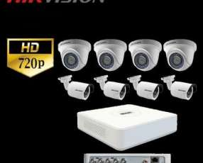 Kit 8 cámaras HD instalado