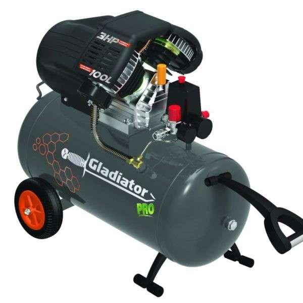 Compresor Industrial Gladiator Pro 100 litros 3 HP