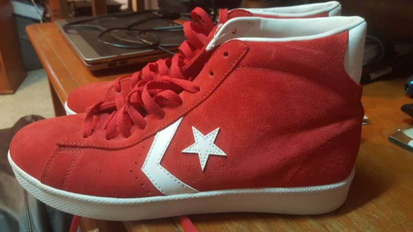 Champion converse rojo caño alto gamuzado - 3