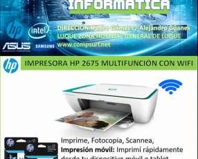 Impresora HP multifunción con wifi 2675