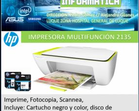 Impresora hp multifunción 2135
