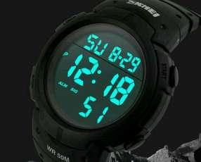 Reloj Skmei - Todo Negro Y Negro Con Gris