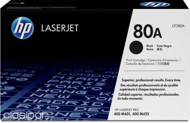 Cartucho original de tóner negro HP 80A LaserJet CF280A - 0