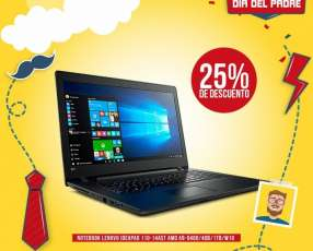 Notebook lenovo ideadpad 110-14ast amd a9-9400/4gb/1tb/w10