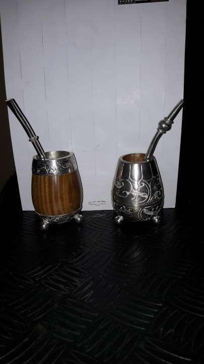 Matero con bombilla de plata - 0
