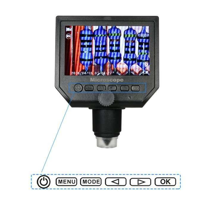 Microscopio cámara digital x600 Pantalla LCD 4.3 - 6