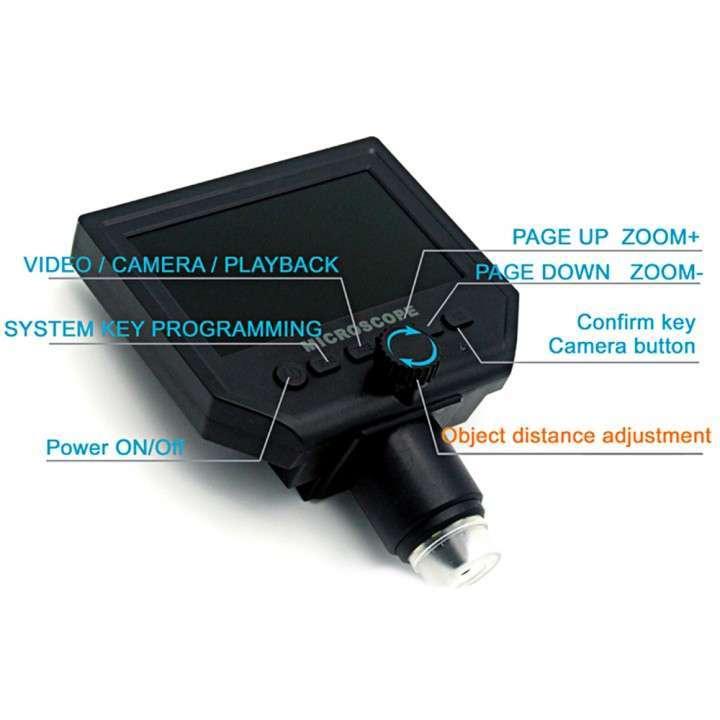Microscopio cámara digital x600 Pantalla LCD 4.3 - 2