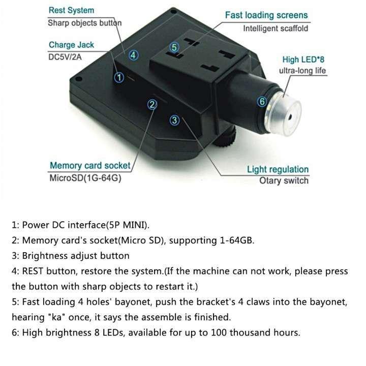 Microscopio cámara digital x600 Pantalla LCD 4.3 - 1