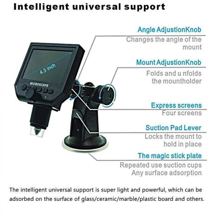 Microscopio cámara digital x600 Pantalla LCD 4.3 - 3