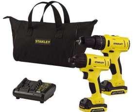 Taladro a Batería + Atornillador de Impacto Stanley 12V con