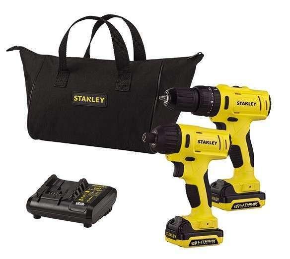 Taladro a Batería + Atornillador de Impacto Stanley 12V - 0