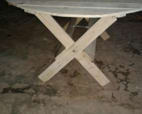 Mesas redondas de maderas