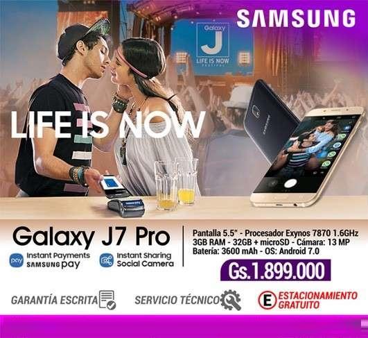 Samsung galaxy j7 pro.