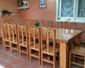 Juego de comedor 12 sillas tapizadas