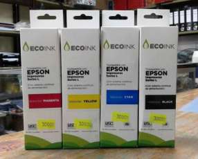 Kit de 4 botellitas de tinta compatibles para epson ecotank