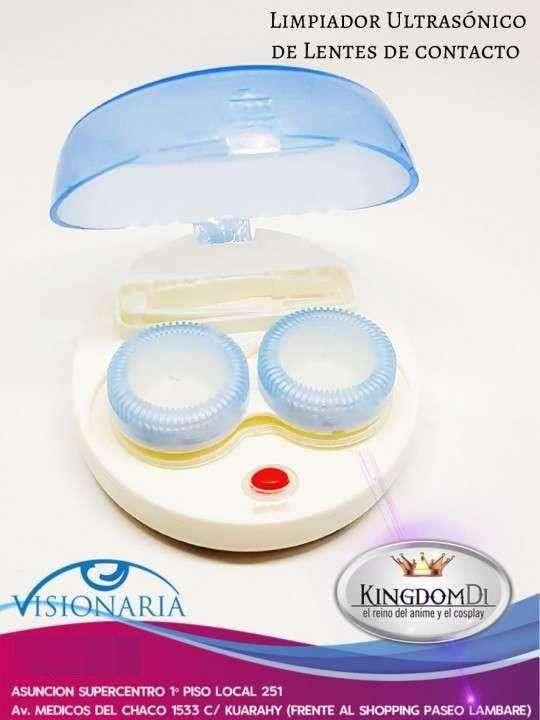 Limpiador ultrasónico de lentes de contacto