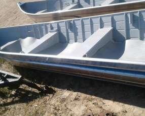 Bote de aluminio 6 metros borda alta reforzada