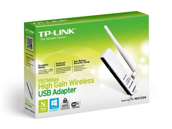 Receptor de señal wifi 722n , tp link , con una antena , usb