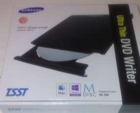 Lector grabador cd dvd externo Samsung slim usb portátil