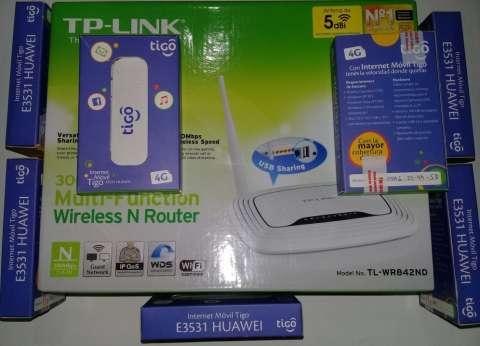 Router WIFI TPLINK +modem Huawei E3531 TIGO, CLARO, PERSONAL