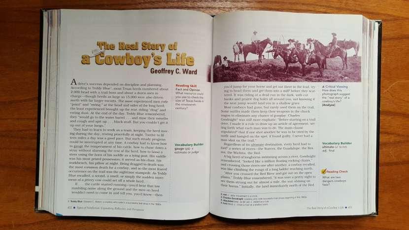 Libro con historias en Inglés. Prentice Hall LITERATURE. - 2