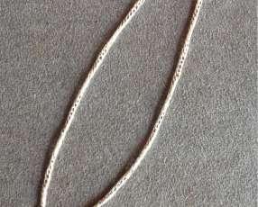 Cadena de plata con detalles en oro 18