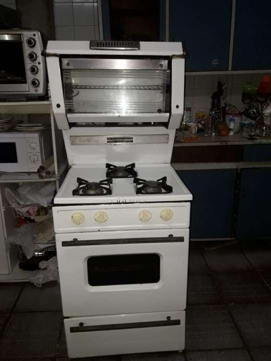 Cocina con spiedo antiguo