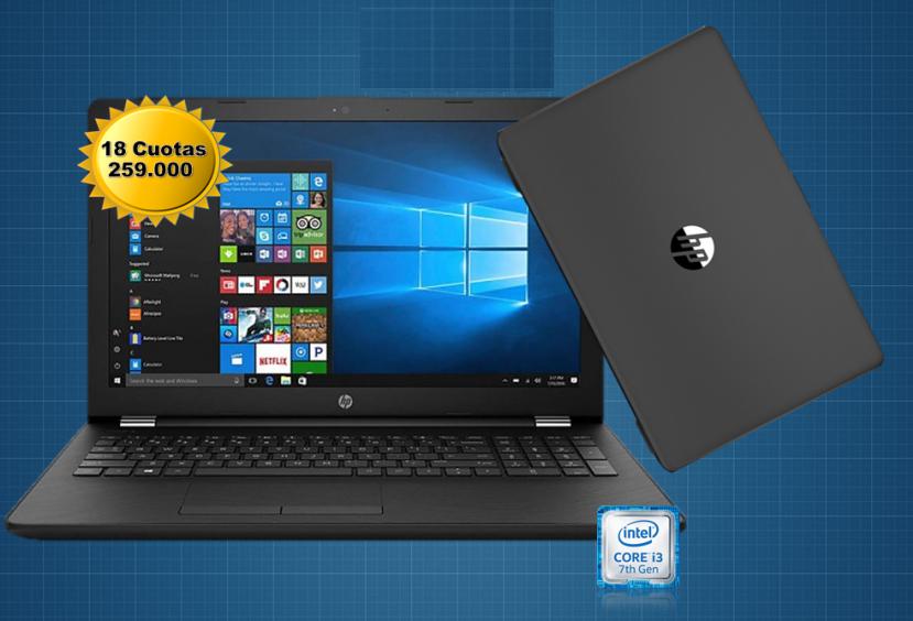 Notebook HP 15 Intel Core i3 7ma generación