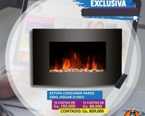 Estufa consumer pared simil hogar control remoto mod.431 sl