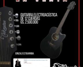 Guitarra electroacústica Takamine negra 12 cuerdas