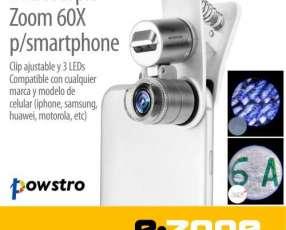 Lente optico microscopio 60X Clip LED