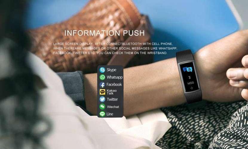 Pulsera Smart Fitness LCD Color LEMFO - 8