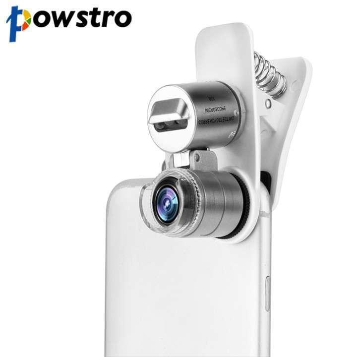 Lente óptico microscopio 60X clip led - 1