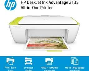 Impresora hp multifuncion 2135 color y negro inkjet.