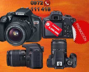 La Canon EOS Rebel T6 kit 18-55mm