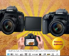 Camara Canon EOS Rebel T7i EF-S 18-55mm