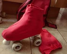 Patines calce 36 con cubre patín y bolso