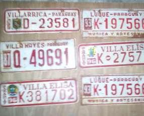 Chapas viejas de automotor del Paraguay