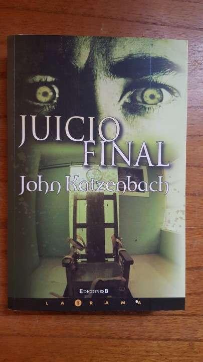 Libro de suspenso e investigación Juicio Final John Katzenbach