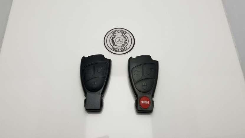 Carcasas negras de llave con y sin panic para Mercedes - 0