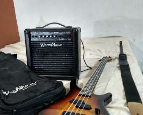 Bajo freeman y amplificador 40 watts
