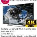 Smart Tv Aurora 4K UHD 50 pulgadas nuevas - 1
