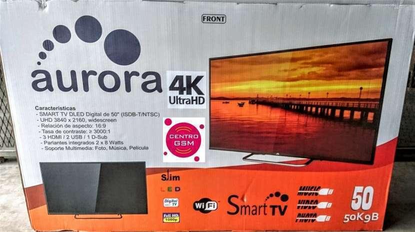 Smart tv Aurora 4K UHD 50 pulgadas nuevas - 0