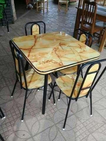 Juego de comedor de 4 sillas - 1