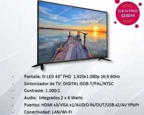 Smart Tv Aurora 43 pulgadas nuevas